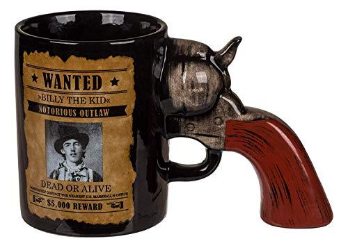 KOSxBO - Taza de café con mango de revólver como asa, perfecta para los fans y armas, taza de té