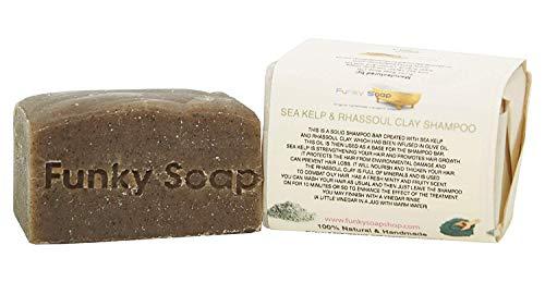 Funky Soap Seetang & Rhassoul Tonerde Shampoo 100% Natürlich Handgemacht, 1 bar of 120g