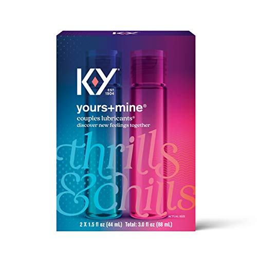 Lubricant for Him and Her, K-Y Yours & Mine Couples Lubricant, 3 fl oz, Couples Personal Lubricant...