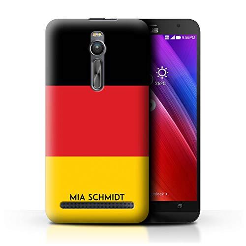 eSwish Personalisiert Individuell National Nation Flagge Hülle für Asus Zenfone 2 ZE551ML / Deutsches/Deutschland Design/Initiale/Name/Text Schutzhülle/Case/Etui