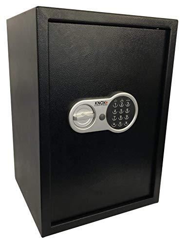 KNOXSAFE KS0KP1604E KNOXPRO 4, Professioneller Safe für Wertgegenstände und Dokumente, Anti Bounce Sicherheitsschloss, Schwarz, 31 x 35 x 50cm (L x B x H)