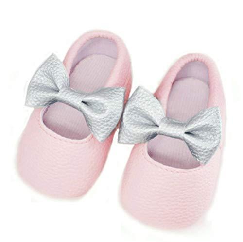 BrillaBenny Mocassini - Zapatos de bailarina neonada, rosa/zapatillas, para bebé, bautismo, boda,...