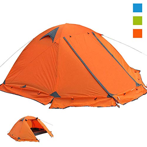 Ultralight Camping Tent For 2 Persons - Waterproof Double Layer Backpacking Tent 4 Seasons