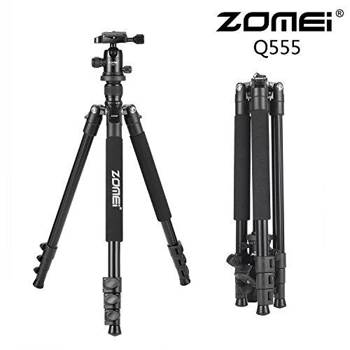 Flycoo ZOMEI Q555 statief van magnesiumlegering, monopod met kogelkop, licht, draagbaar, voor Canon Nikon Sony Samsung Panasonic Olympus Fuji DSLR en camcorder