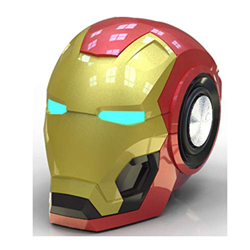 YHSGD Altavoz Bluetooth Altavoces para teléfonos móviles V4.2 Iron Man Subwoofer con...