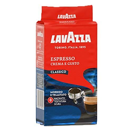 Lavazza Espresso Crema e Gusto Classico - Caffè Macinato per Macchina Espresso - Arabica e Robusta - Gusto Intenso e Marcato - Note Legno e Tabacco - Intensità 8 - Tostatura Scura - 250 g