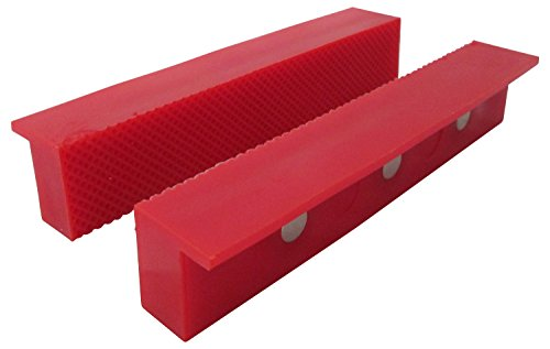 "ION TOOL Universal Soft Vise Jaws, Synthetic Rubber Jaws 6"" Red"