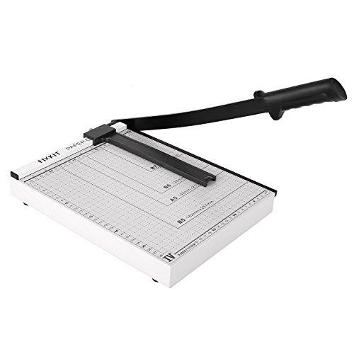FIXKIT Papierschneider A3 Schneidemaschine mit einer Schnittlänge von 32cm Papierschneidemaschine für Gutschein Bastelpapier Etikett Foto