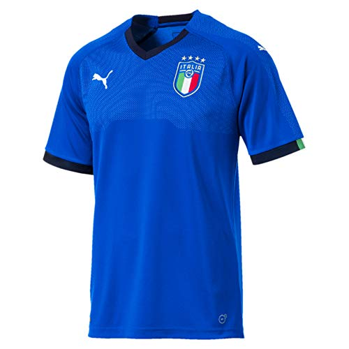 PUMA Herren FIGC Italia Home Shirt Replica SS, Team Power Blue-Peacoat, L