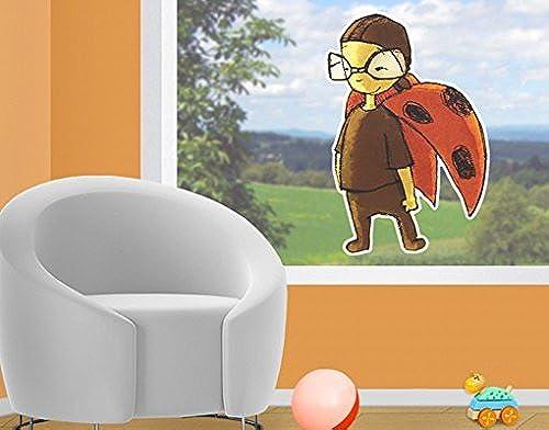Sticker de fenêtre Ladybeetle Kurt, film de fenêtre, autocollant de fenêtre, tatouage de fenêtre, sticker vitres, image de fenêtre, déco de fenêtre, décoration de fenêtre, DiPour des hommesion  163cm x 110cm
