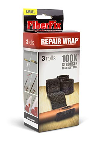 FiberFix Repair Wrap - Permanent Waterproof Repair Tape 100x Stronger than Duct Tape 1' (3 Rolls)