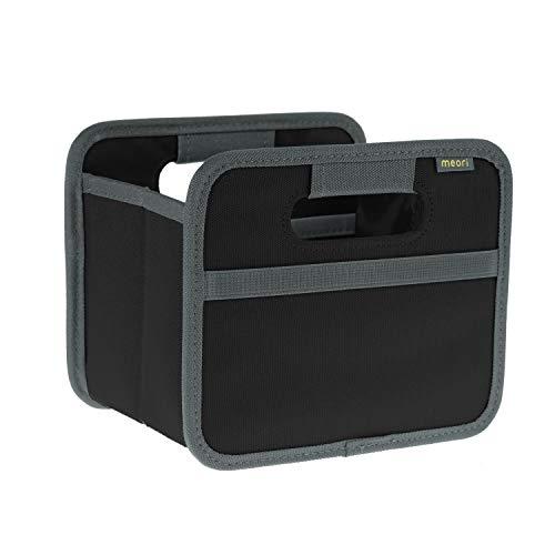 meori Faltbox Mini Lava Schwarz 16,5x12,5x14cm abwischbar stabil Aufbewahrungsbox Organizer Geschenkbox mit Griffen Dekoration Kleinteile Sortieren Regal Postkarten