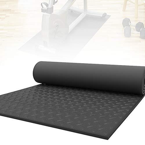 APJJ 10 mm Bodenschutzmatte Fitnessgerät, Laufband Gerätematte, Unterlage Fitnessgeräte für Heimtrainer, Ergometer, Crosstrainer, Trainingsmatte rutschfest, 200X100x1cm