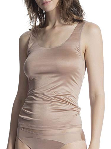 CALIDA Damen Feminine Air Unterhemd, Braun (Almondine 335), 42 (Herstellergröße: S)