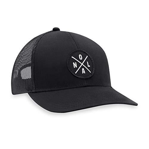 NOLA HAT - New Orleans Trucker Hat Baseball Cap Snapback Golf Hut (schwarz)