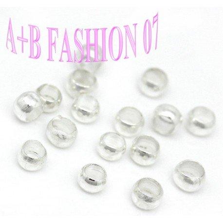 AB-Fashion 07 100 Quetschperlen versilbert 2mm