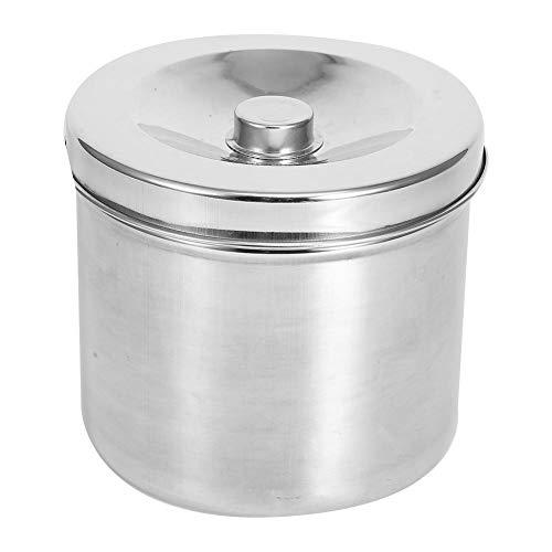 Edelstahl-Salbenglas, Dentalzubehör Dressing Cotton Box Iodophor Gazebehälter Edelstahl-Vorratsglas(16cm)