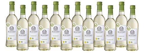 Sontino BioVegan Chardonnay Halbtrocken (12 x 0.25 l) Weißwein aus Italien