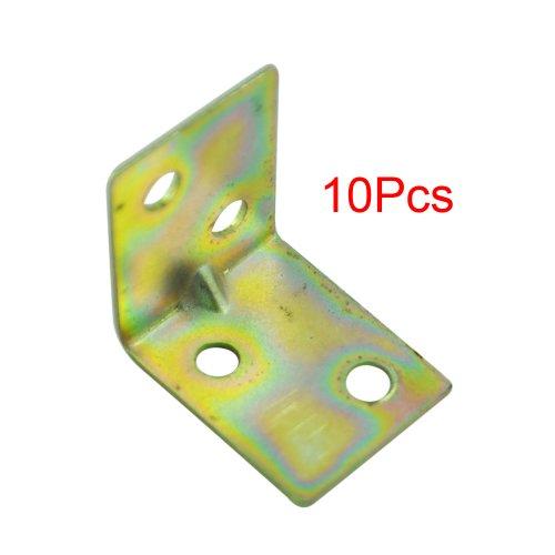 SODIAL(R) 10 Stueck 25x25x16mm 90 Grad rechtwinklig Metallstuetze Bodentraeger