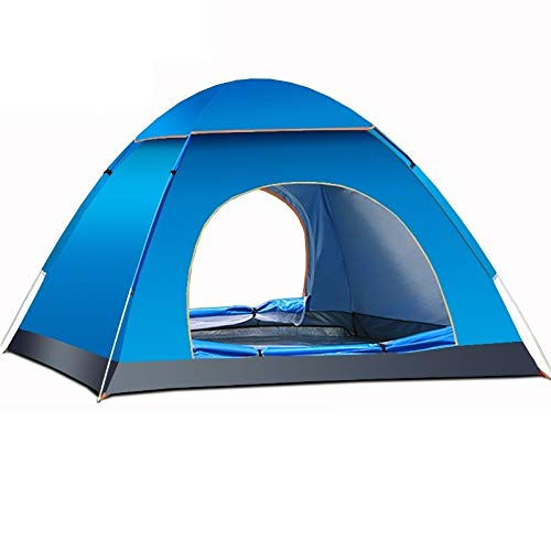 Pop-up tent camping tent waterproof tent Outdoor Camping Tents Portable Waterproof Automatic Tent Anti-UV 3/4Person Folding Pop Up Open Sun Shade Tent (Color : Blue)