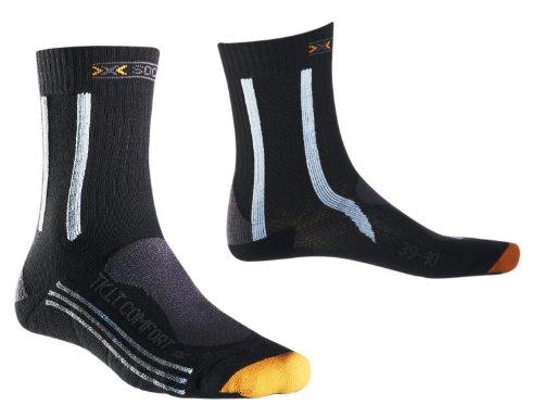 X-SOCKS Chaussettes de randonnée légères et Comfort Lady, Femme, X 20290, Charcoal/Sky Blue/Grey, 3