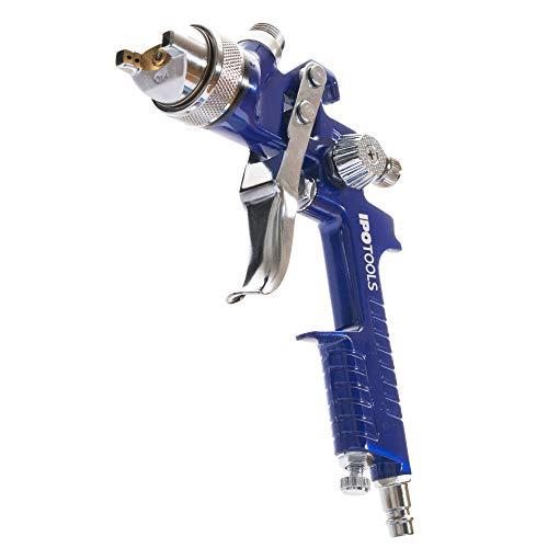 Pistolet A Peinture HVLP H-827P - système de pulvérisation de peinture professionnel avec godet en plastique de 600 ml et buse en acier inoxydable 1.4mm + 2x jeu de buses 1.7mm & 2.0mm