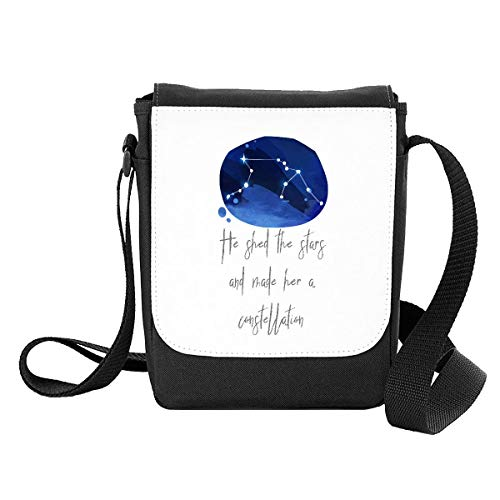 Zodiac Star Sign Virgo He Shed The Stars and Made Her A Constellation Shoulder Bag - Small