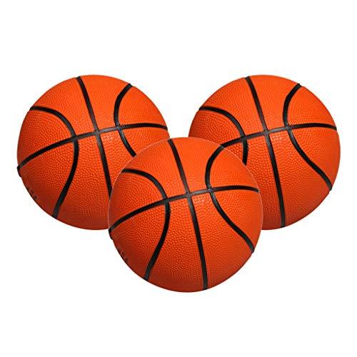 SM SunniMix 3 Stück Mini Gummi Basketball Kind Kleinkind Kinder Toy Boy Geschenk 5 Zoll Orange