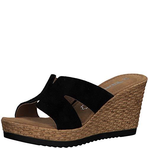 Tamaris Damen ClogsPantoletten 27242-34, Frauen Clogs, feminin elegant Women's Women Woman Freizeit leger Slipper Slides Sandale,Black,38 EU / 5 UK