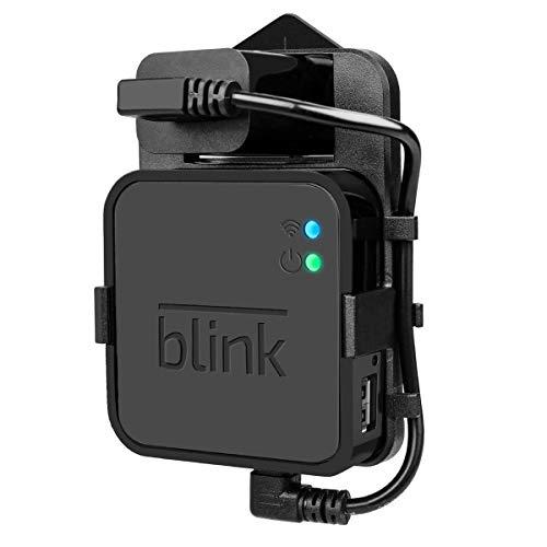 Outlet Wandhalterung für Blink Sync-Modul – Aufhängerhalter Ständer für Blink XT Blink XT2 Kamera Zubehör mit einfacher Montage, Keine Kabel oder Schrauben, Schwarz