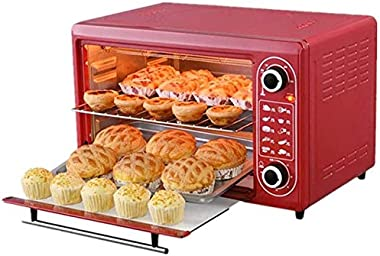 Rindasr Countertop microwave,Electric Oven, 48L Manual with Baking Tray and Grill, Multifunctional Intelligent Baking Toaster
