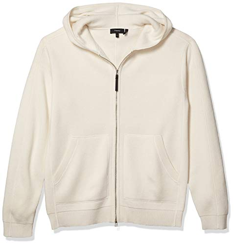 Theory Men's Alcos Cashmere Hooded Sweatshirt, Ivory, M