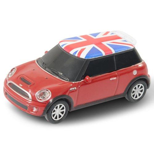 Autodrive Mini Cooper 8 GB USB-Stick im Auto-Design USB 2.0 rot mit Union Jack