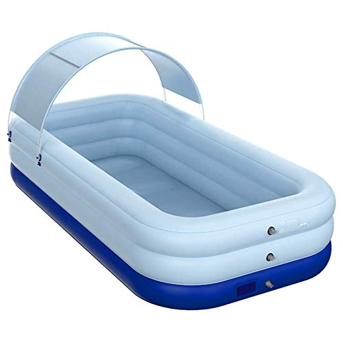 Piscina Inflable, Piscina Inflable Automática Familiar Al Aire Libre, Piscina Inflable Para Niños Adultos, Piscina Para Niños En El Patio Trasero De Verano Actividades Acuáticas,82.7*59.1*26.8in