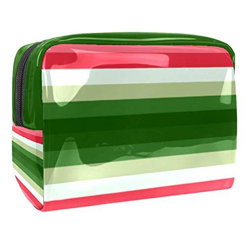 Tragbare Make-up-Tasche mit Reißverschluss, Reise-Kulturbeutel für Frauen, praktische Aufbewahrung, Kosmetiktasche, Wandfarbe, Test