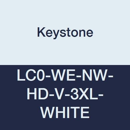 Keystone Fees free LC0-WE-NW-HD-V-3XL-WHITE Heavy Limited Special Price Duty C Polypropylene Lab
