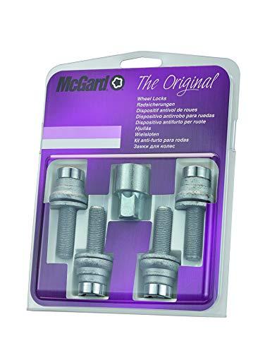 McGard 26002SU Standard - Tornillos antirrobo para ruedas (base plana, M12 x 1,25, longitud del vástago 35,3 mm, SW17)