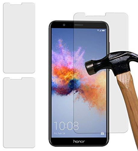 yayago 2er Set Bildschirmschutzglas 0 26 MM Bildschirmschutzfolie für Huawei Honor 7X Glasfolie Hartglas 9H (bewusst Kleiner als das Bildschirm da Dieses gewölbt ist)