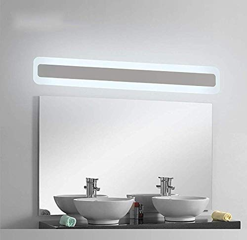 Moderne make-uplamp mistlampen roestvrij staal met schakelaar voor badkamer, make-uptafel, tester, 6200K wandlamp koudwit badkamerspiegel LED 20W/520mm design M