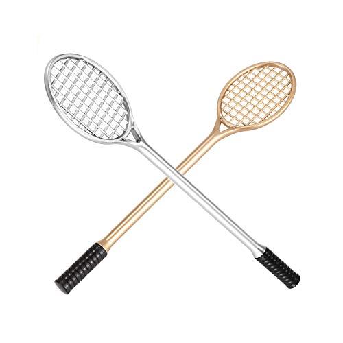 YYLH 12 Stuecke Gel Stift Schreib Punkt 0.38Mm Kreatives Briefpapier Nette Tennis Schlaeger Modellierung Badminton Schlaeger Bleistift Stylus Stift