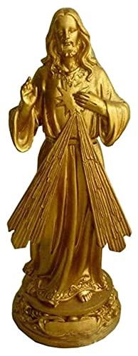 WQQLQX Estatuilla Cristo Jesús Estatua Escultura Escultura Católica Religiosa Catology Modelo Figurines Decoración del hogar Ornamentos Suministros Religiosos Regalo Obra de Arte Estatua