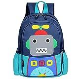 RUI NUO Kids Toddler Cute Robot Prescool mochila de viaje de...