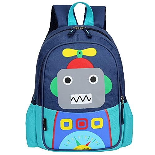RUI NUO Kids Toddler Cute Robot Prescool mochila de viaje de dibujos animados mini bolsa para bebés niñas niños (verde)