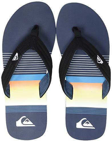 Quiksilver Molokai Layback, Zapatos de Playa y Piscina para Hombre, Azul (Black/Blue Xkbk), 47 EU