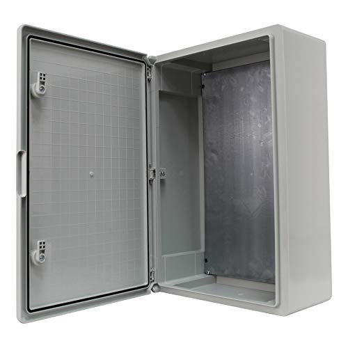 Schaltschrank IP65 Industriegehäuse verzinkter Montageplatte Verriegelung Tür mit umlaufender Dichtung Gehäuse Leergehäuse ABS Kunststoff Schrank (400x600x200mm)