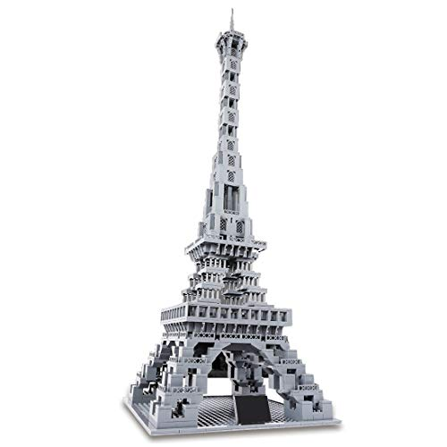 HYZM Architektur Eiffelturm Bausteine, 1212Pcs 1:400 Paris Architekturmodellbausatz, Architecture Modell Kompatibel mit Lego