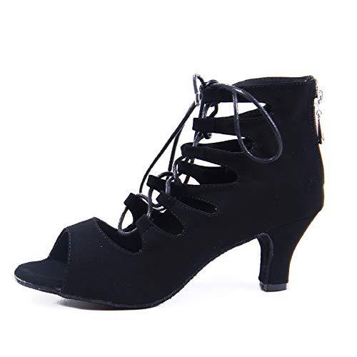 Syrads Zapatos de Baile Latino para Mujer Salsa Tango Bachata Vals Zapatos de Baile de Salón Suela Blanda 969