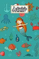"""Ukulele Tab Sheets: Mermaid Ukulele Tab Sheets, Ukulele Chord Diagrams / Blank Ukulele Tablature Notebook, 120 Pages, Size 6""""x9"""" by Heiderose Harms"""