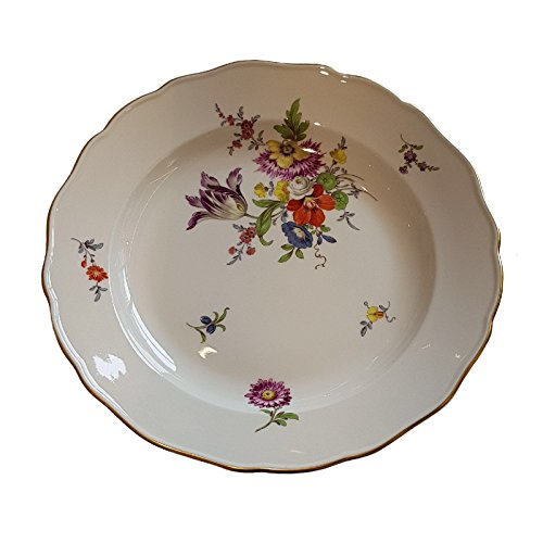 Meissen Flacher Teller aus Porzellan-aufhängbarer