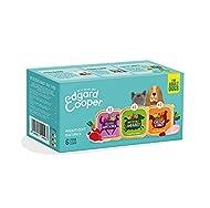 Edgard & Cooper Adult Grain Free Wet Dog Food - Multipack Cups - 6x 100g - Game & Duck, Lamb & Beef ...